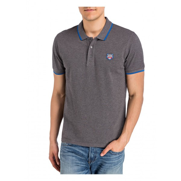 PACK 5 Kenzo  Cotton Polo Shirt -Antracite 0