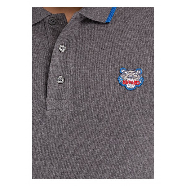 PACK 5 Kenzo  Cotton Polo Shirt -Antracite 1
