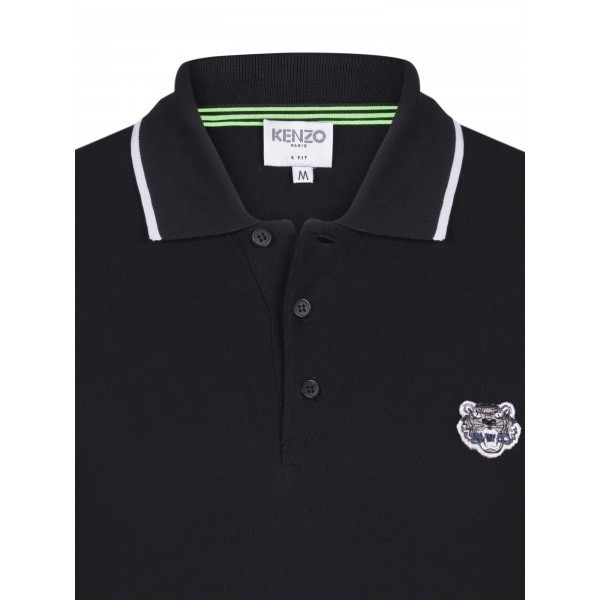 PACK 5 Kenzo  Cotton Polo Shirt -Black 1