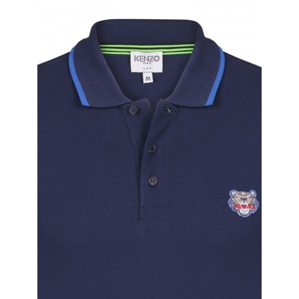 PACK 5 Kenzo  Cotton Polo Shirt -Blue Navy 1