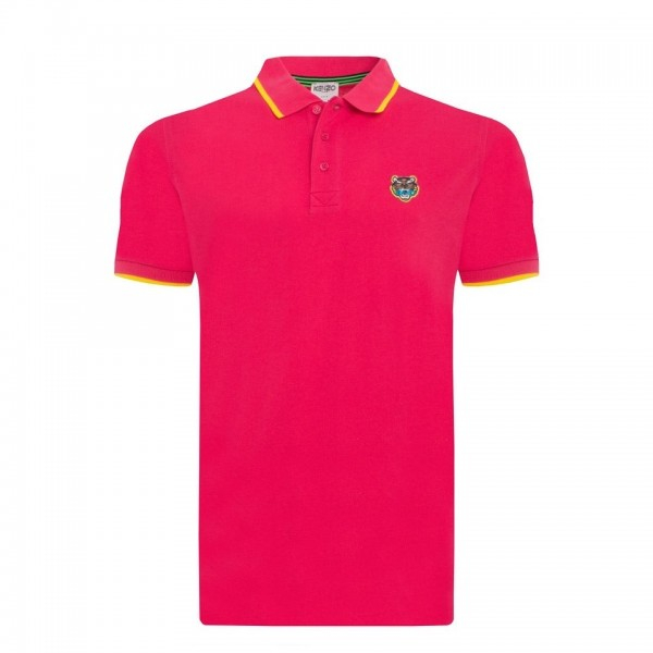 PACK 5 Kenzo  Cotton Polo Shirt - Pink 0