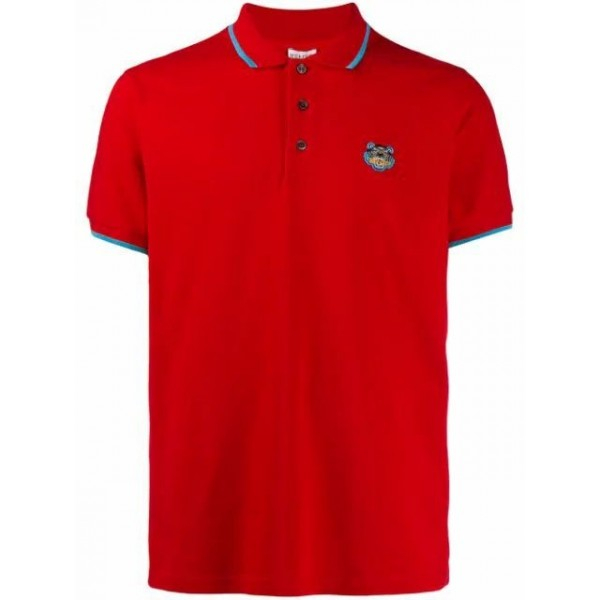 PACK 5 Kenzo  Cotton Polo Shirt -Red 0