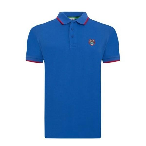 PACK 5 Kenzo  Cotton Polo Shirt -Blue Sax 0