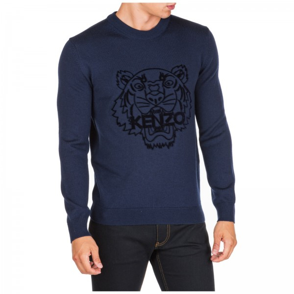 PACK 5 KENZO - Tiger Logo sweatshirt -Blue Navy 0