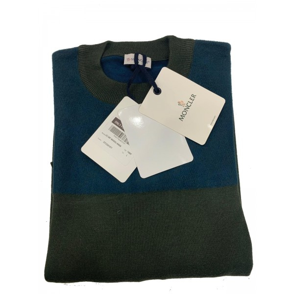 PACK 5 MONCLER tricot stripe virgin wool  Blue / Green 0