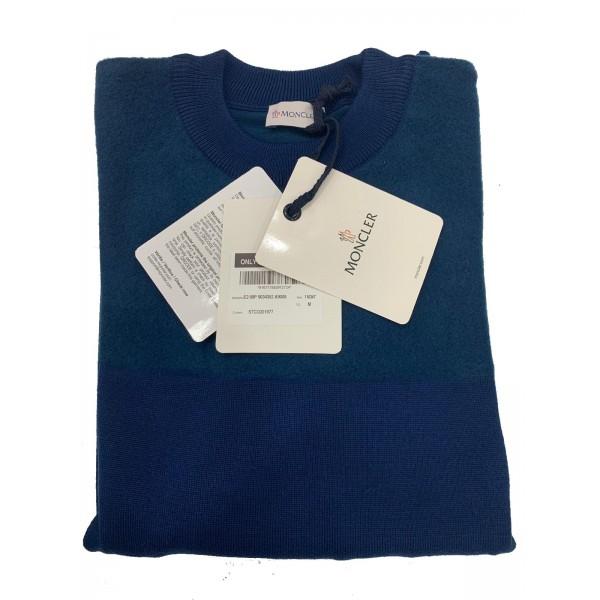 PACK 5 MONCLER tricot stripe virgin wool Blue in Blue 0