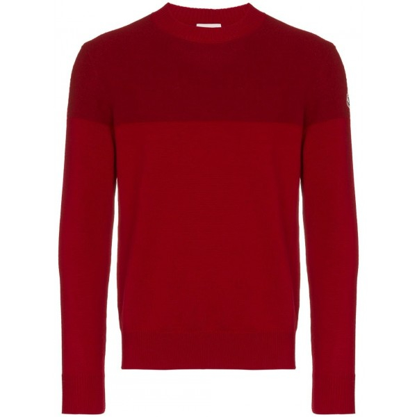 PACK 5 MONCLER Tricot Stripe Virgin Wool Bordeaux / Red 0