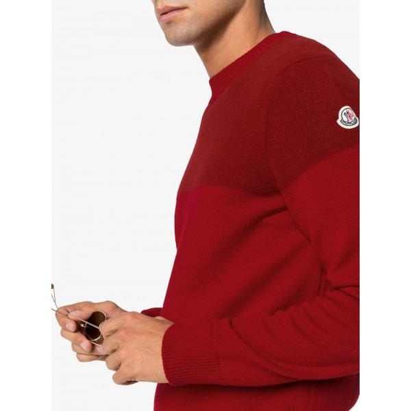 PACK 5 MONCLER Tricot Stripe Virgin Wool Bordeaux / Red 1