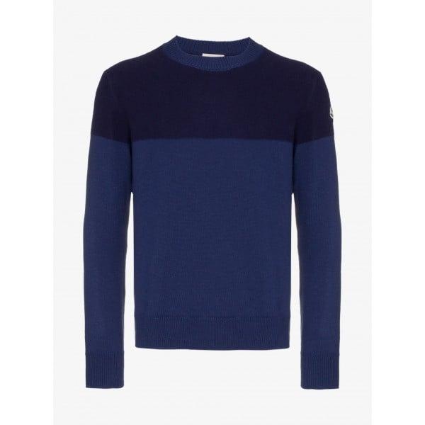 PACK 5 MONCLER tricot stripe virgin wool  Dark Blue / Blue 0
