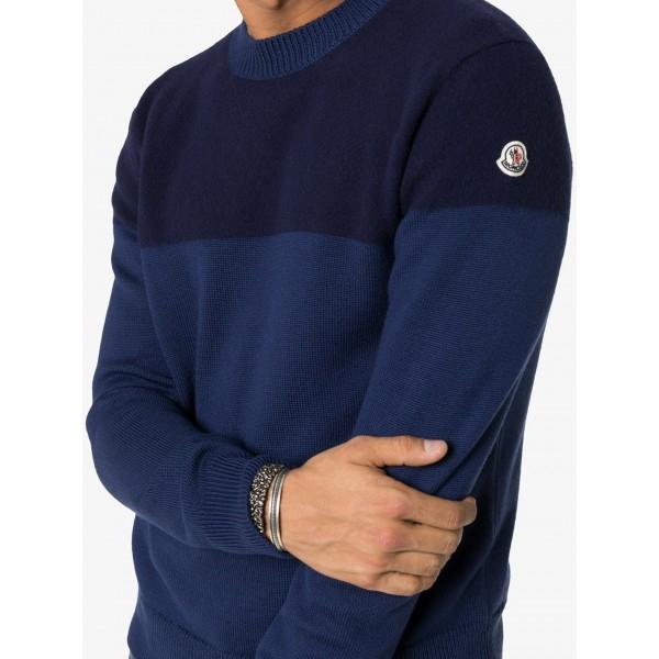 PACK 5 MONCLER tricot stripe virgin wool  Dark Blue / Blue 1