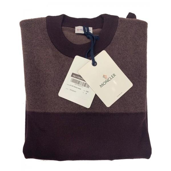 PACK 5 MONCLER tricot stripe virgin wool Old Rosa / Aubergine 0
