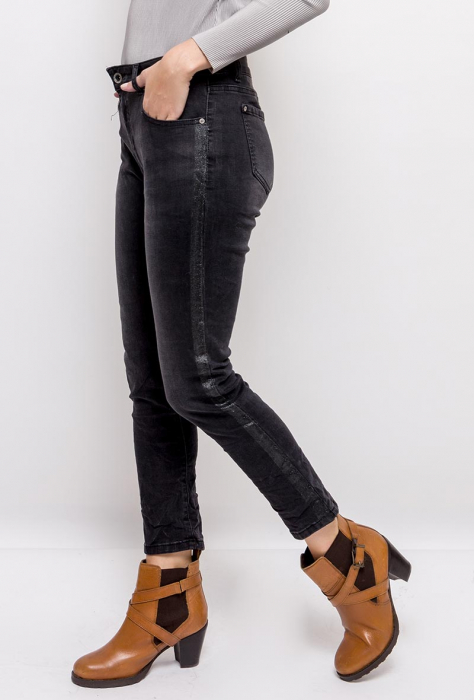 PACK 10 STARBEST women regular jeans with shiny stripes 2