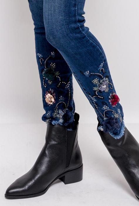 PACK 10 STARBEST women skinny jeans(cu broderie si paiete) 1