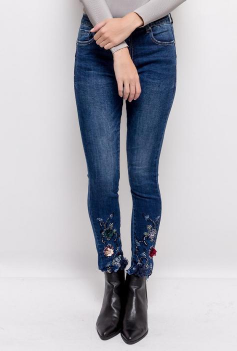 PACK 10 STARBEST women skinny jeans(cu broderie si paiete) 2