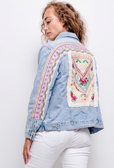 PACK 10 STARBEST Denim jacket with embroidery 0