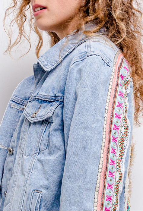 PACK 10 STARBEST Denim jacket with embroidery 1