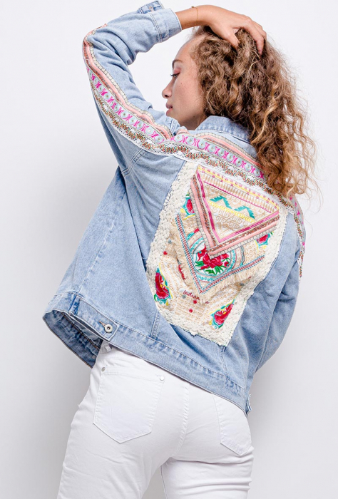 PACK 10 STARBEST Denim jacket with embroidery 3