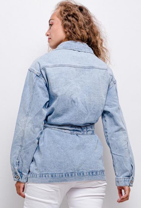 PACK 10 STARBEST Belted denim jacket 3
