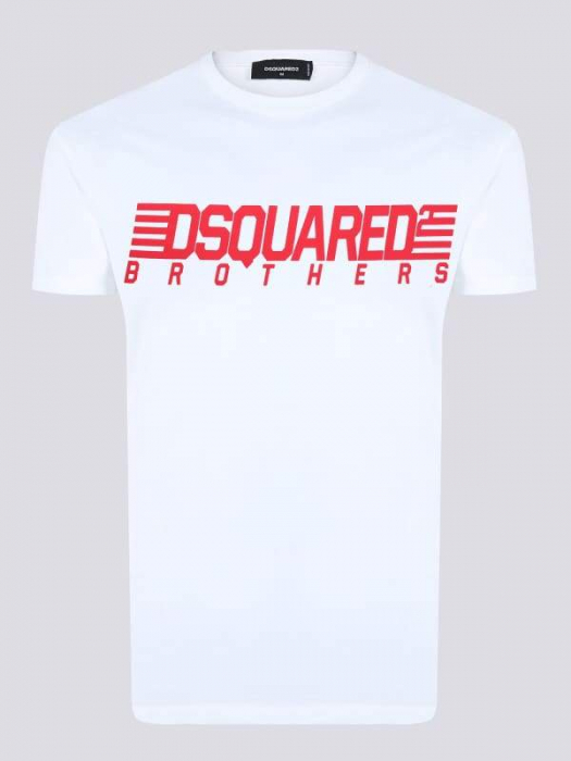 PACK 10 Dsquared2 Men's T-Shirts White/Red 1