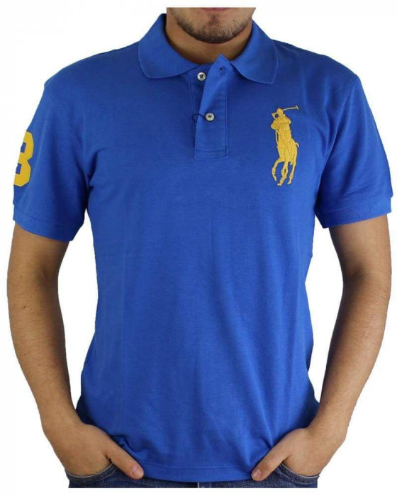 PACK 10 Ralph Lauren Custom Fit Men's Polo Shirts Big Pony 5
