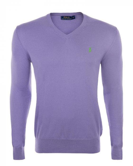 PACK 10 Ralph Lauren V Neck Men's Pullover Lila 0