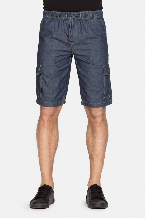 SHORT CARGO IN LIGHT DENIM STYLE 629 0