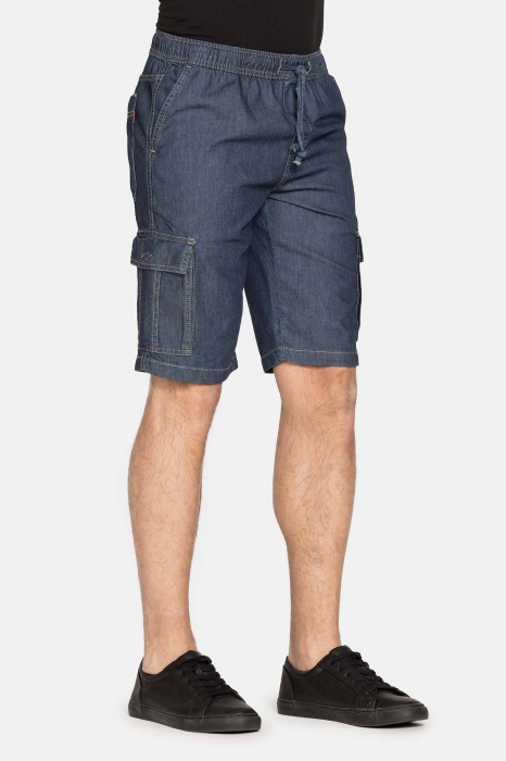 SHORT CARGO IN LIGHT DENIM STYLE 629 1
