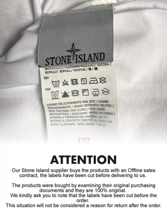 PACK 10 Stone Island Men's Crew Neck Big Brand T-Shirts white 1