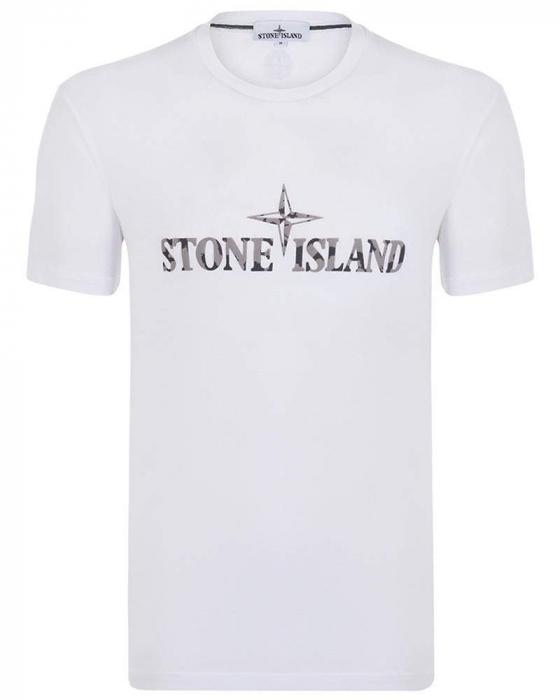 PACK 10 Stone Island Men's Crew Neck Big Brand T-Shirts white 0