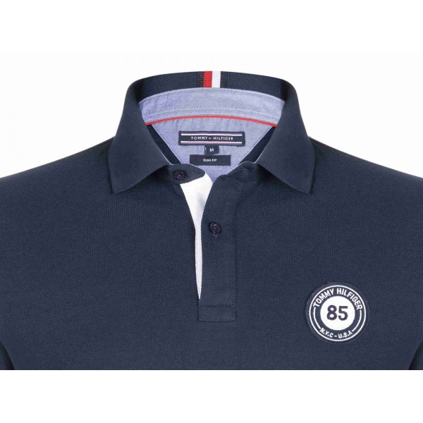 PACK 5 Tommy Hilfiger men's polo shirt BADGE 85 blue navy 2