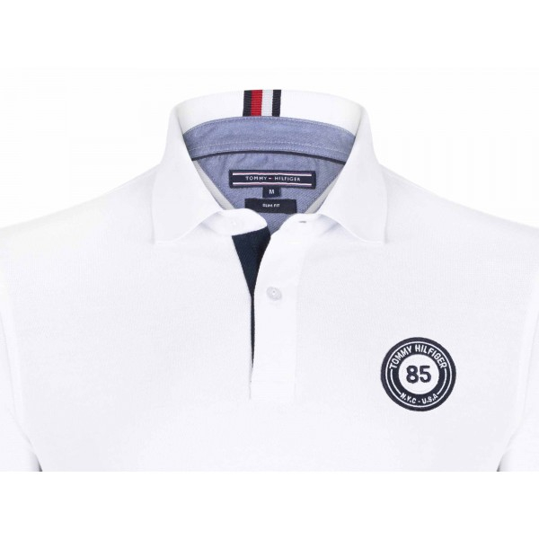 PACK 5 Tommy Hilfiger men's polo shirt BADGE 85 white 1