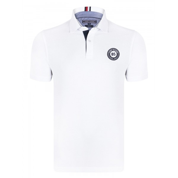 PACK 5 Tommy Hilfiger men's polo shirt BADGE 85 white 0