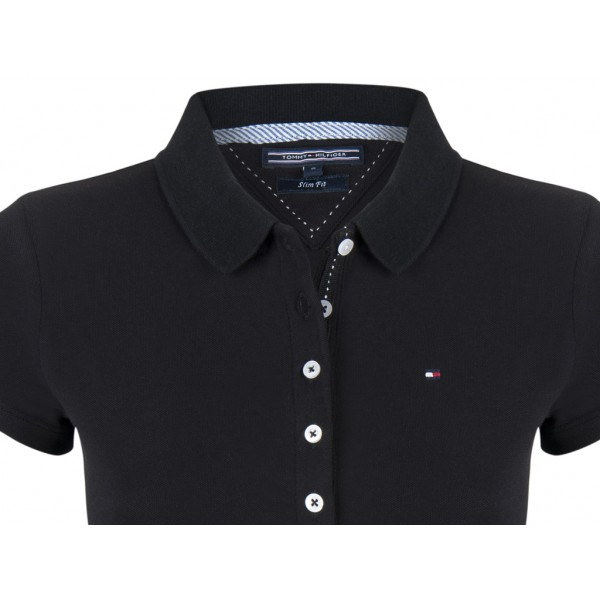 PACK 5 Ladies polo piqué shirt by Tommy Hilfiger black 1