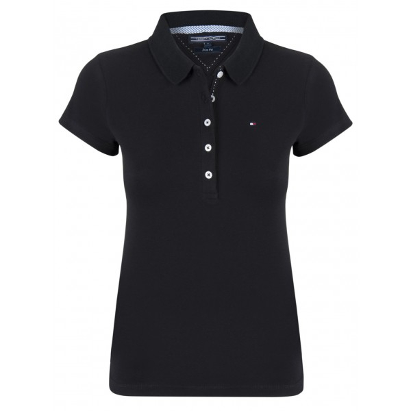 PACK 5 Ladies polo piqué shirt by Tommy Hilfiger black 0
