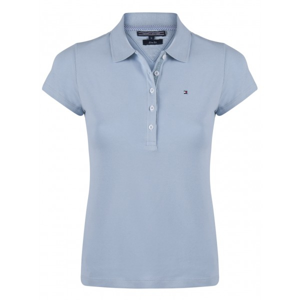 PACK 5 Ladies polo piqué shirt by Tommy Hilfiger light blue 0