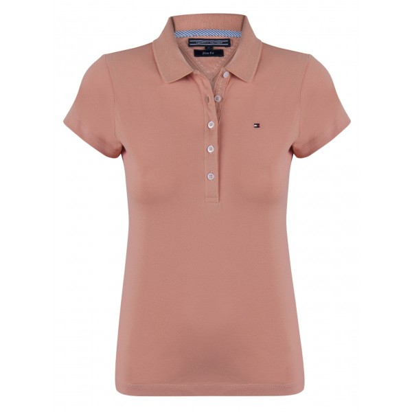 PACK 5 Ladies polo piqué shirt by Tommy Hilfiger light brown 0