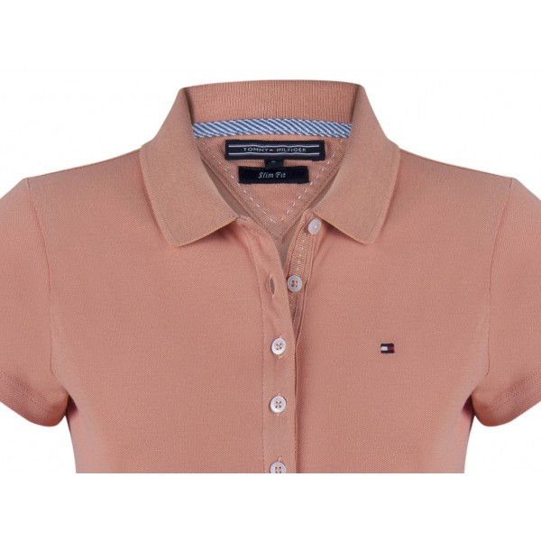 PACK 5 Ladies polo piqué shirt by Tommy Hilfiger light brown 1
