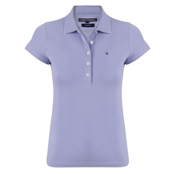 PACK 5 Ladies polo piqué shirt by Tommy Hilfiger purple 0