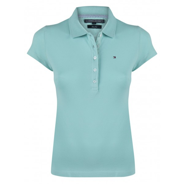 PACK 5 Ladies polo piqué shirt by Tommy Hilfiger turquoise 0