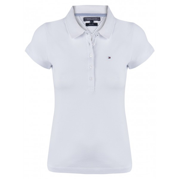 PACK 5 Ladies polo piqué shirt by Tommy Hilfiger white 0