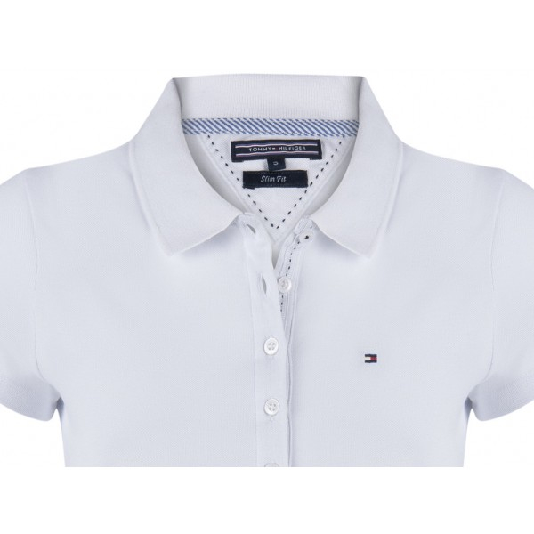 PACK 5 Ladies polo piqué shirt by Tommy Hilfiger white 1