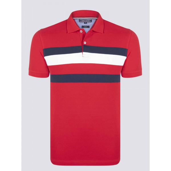 PACK 5 Tommy Hilfiger men's polo shirt red 0