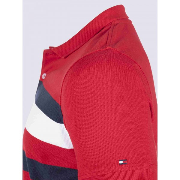 PACK 5 Tommy Hilfiger men's polo shirt red 1