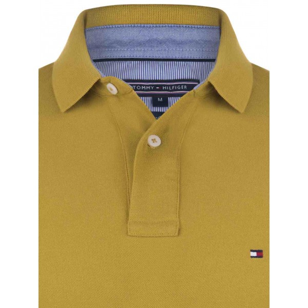 PACK 5 Tommy Hilfiger Men's Polo Shirts Mustard 1