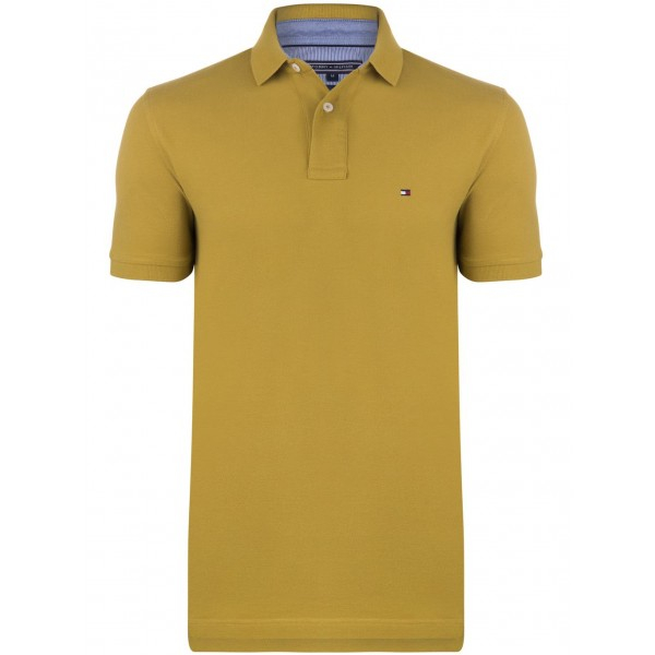 PACK 5 Tommy Hilfiger Men's Polo Shirts Mustard 0