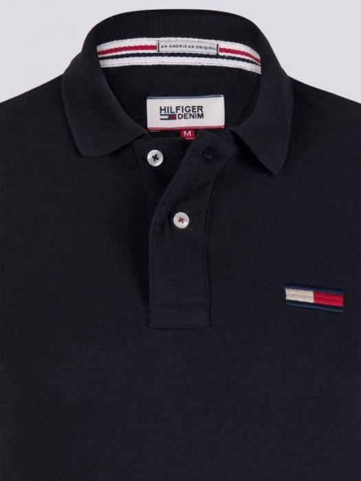 PACK 7 Tommy Hilfiger Men's Polo Shirts Regular Fit Black 1