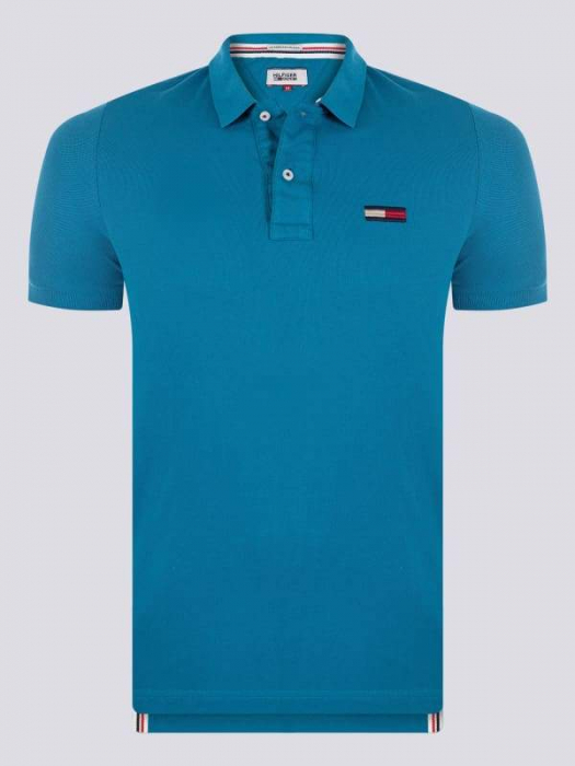 PACK 7 Tommy Hilfiger Men's Polo Shirts Regular Fit Blue 0