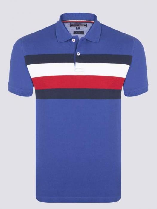PACK 8 Tommy Hilfiger Men's Polo Shirts Regular Fit Blue 0