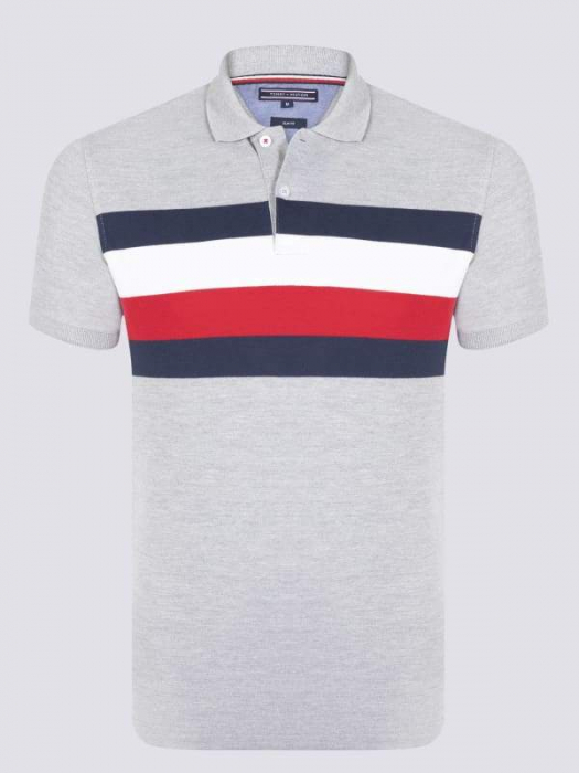 PACK 8 Tommy Hilfiger Men's Polo Shirts Regular Fit Gray 0