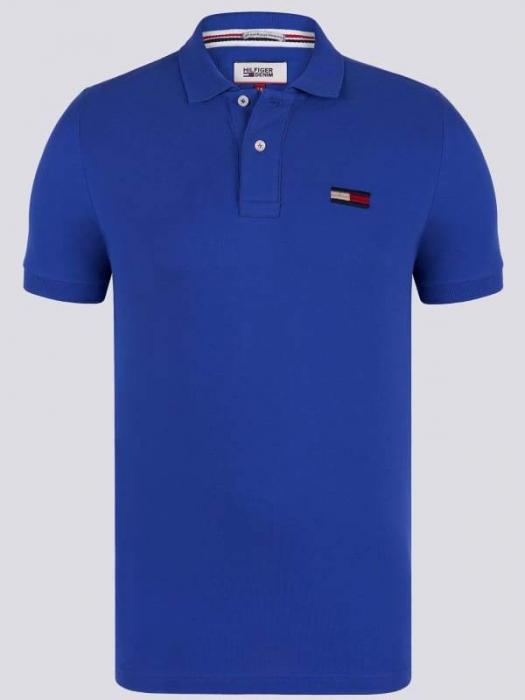 PACK 7 Tommy Hilfiger Men's Polo Shirts Regular Fit Saxblue 0